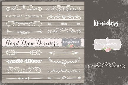 VECTOR Hand Drawn flourishes dividers