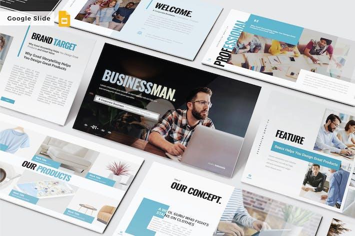 Thumbnail for BUSINESSMAN - Google Slide V474