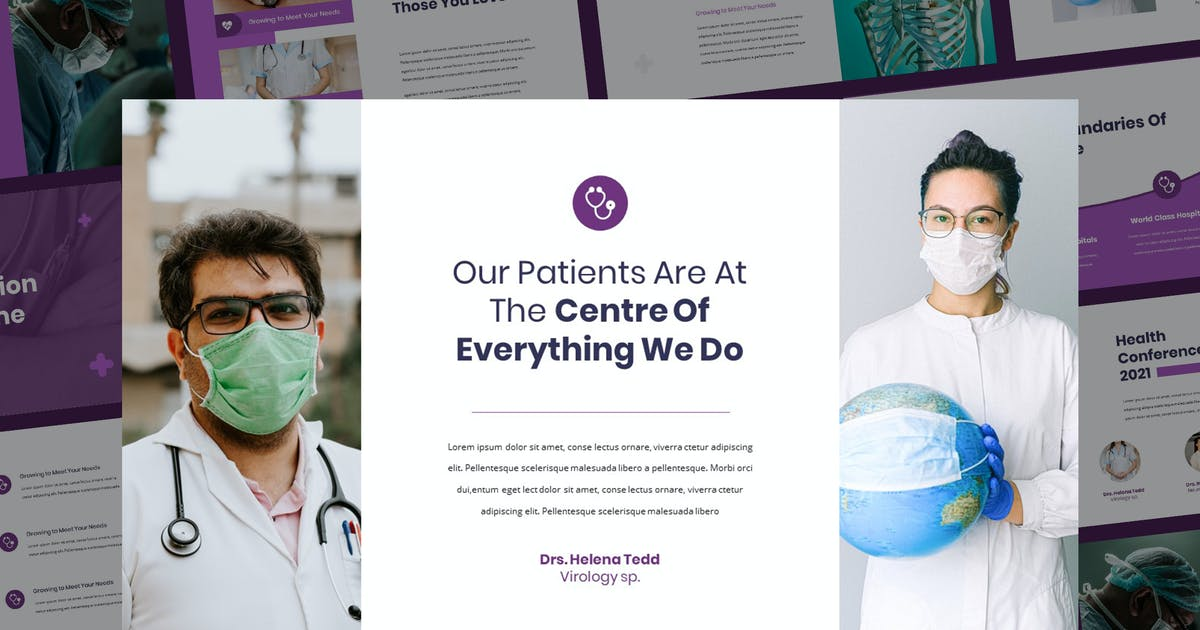 Download Helena - Medical Theme Keynote Presentation by Slidehack