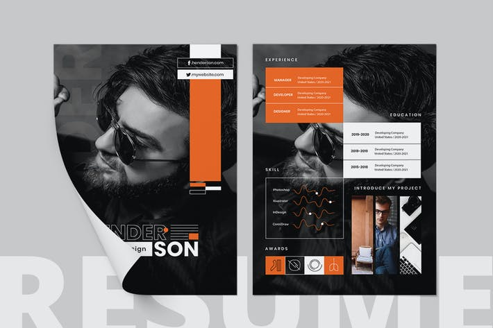 Thumbnail for Creative Resume Template