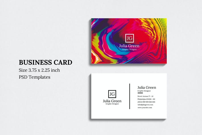 Thumbnail for Abstract Business Card Vol 04