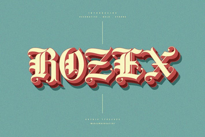 Rozex - Police gothique décorative audacieuse