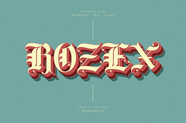 Thumbnail for Rozex - Bold Decorative Gothic Font