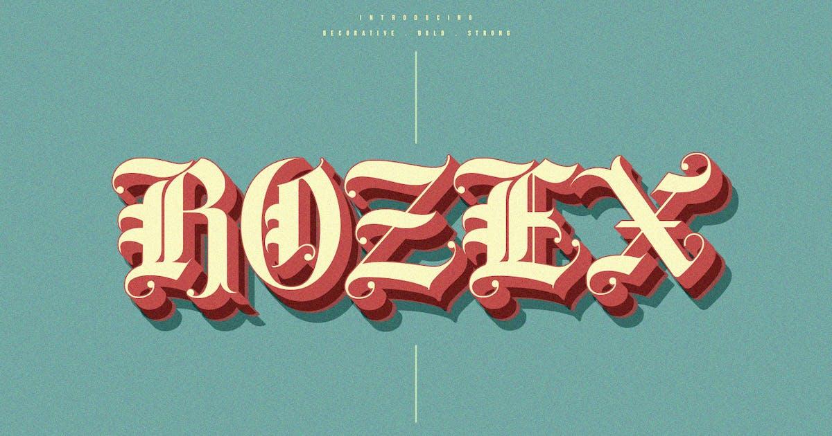 Download Rozex - Bold Decorative Gothic Font by maulanacreative