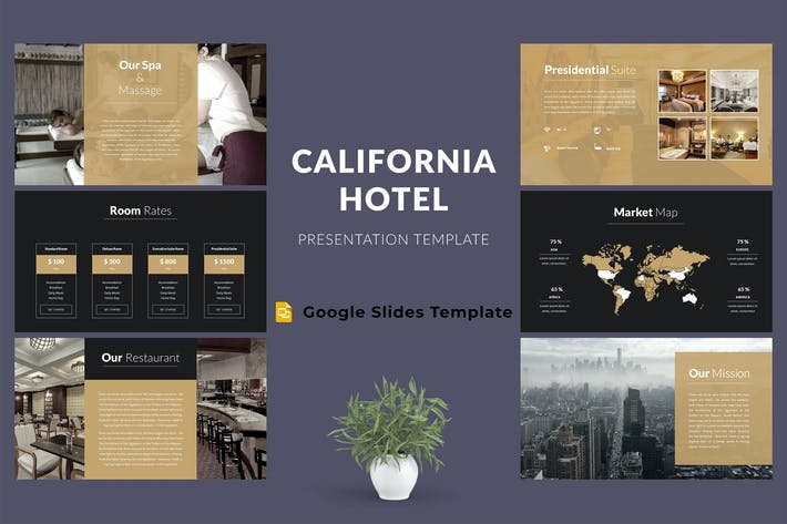 Thumbnail for PräsentationsVorlage für Hotel Google Präsentationen
