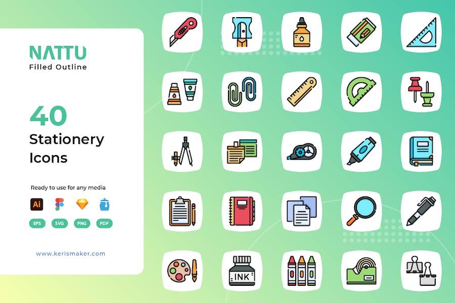 Nattu - Stationery Icons