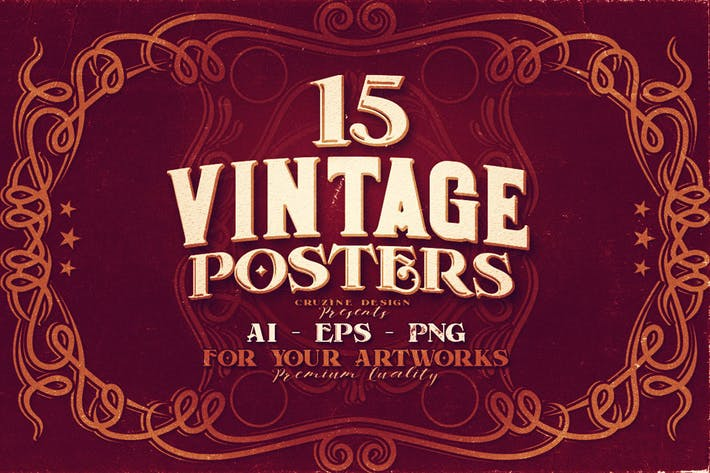 Thumbnail for 15 Vintage Posters
