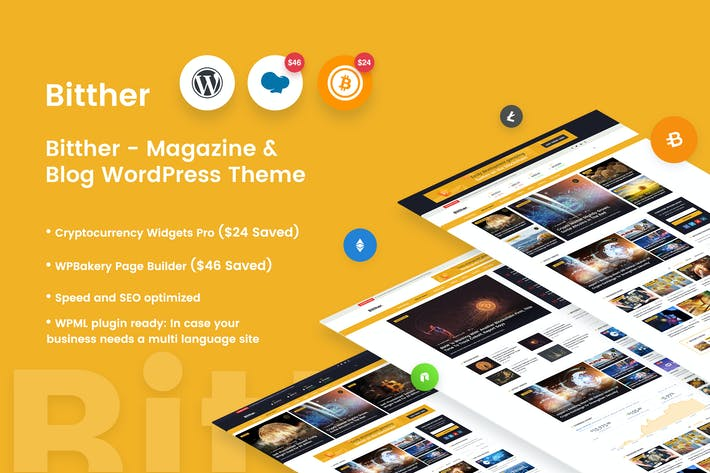 Thumbnail for Bitther -  Magazine & Blog Wordpress Theme