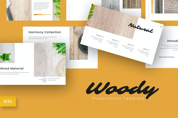 Thumbnail for Woody - Company Google Slides Template