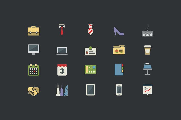 Thumbnail for Office Color Icons