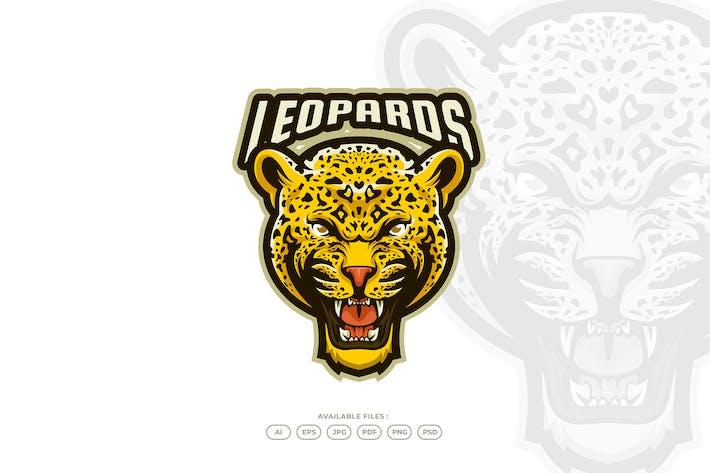 Thumbnail for Leopard Mascot Logo Template