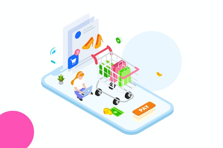 Thumbnail for Online Payment by Finance Isometric - FV