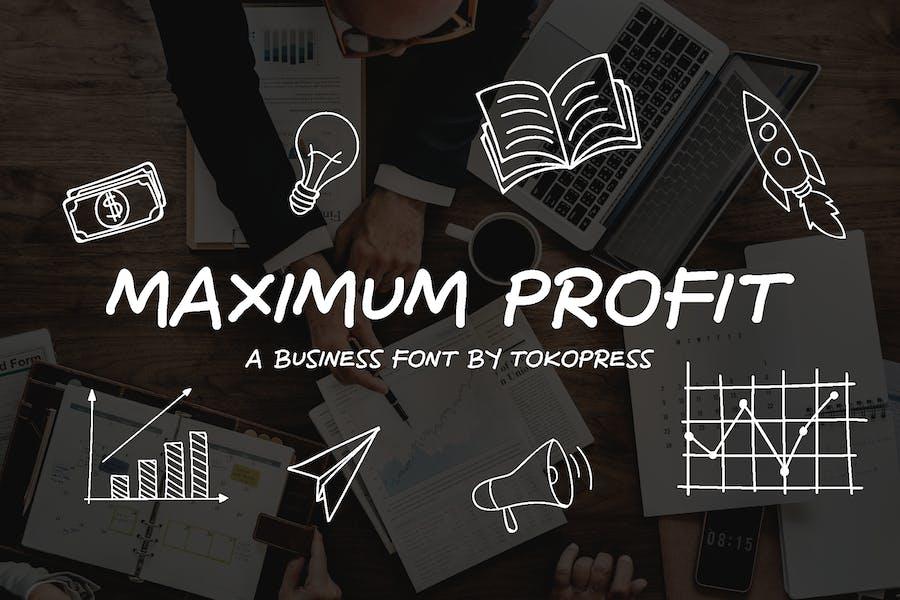 Maximum Profit - Business font
