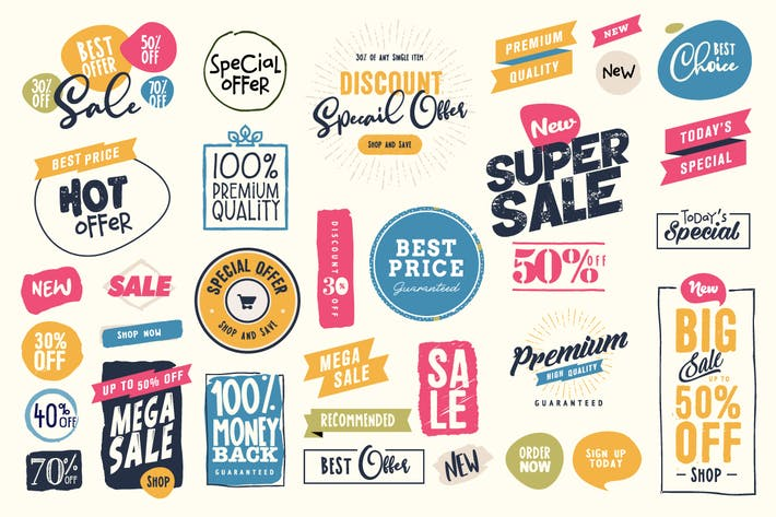 Thumbnail for Sale Labels and Stickers Collection
