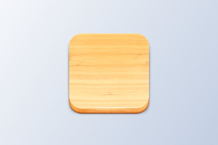 Wood iOS Icon Template