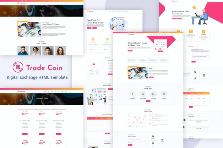 Thumbnail for Trade Coin - Digital Exchange HTML Template