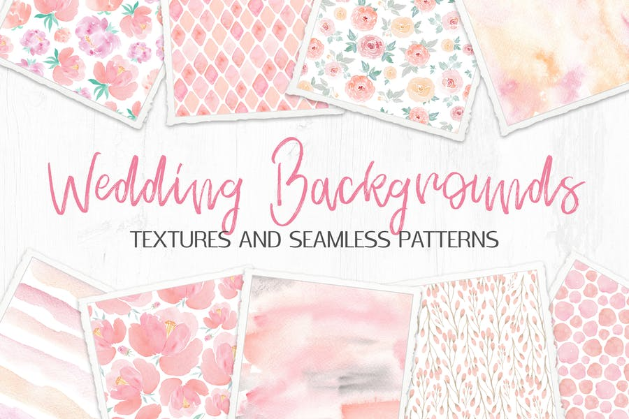 Wedding Backgrounds: Textures and Patterns