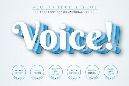 Три слоя - редактируемый текстовый эффект, стиль шрифта