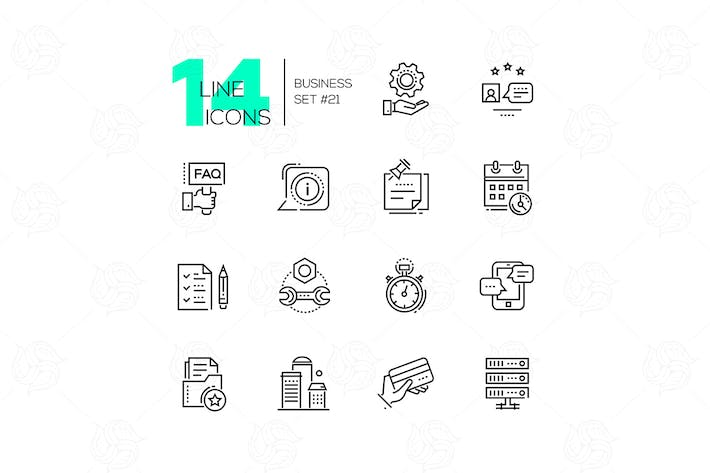 Thumbnail for Business - modern line design icons set