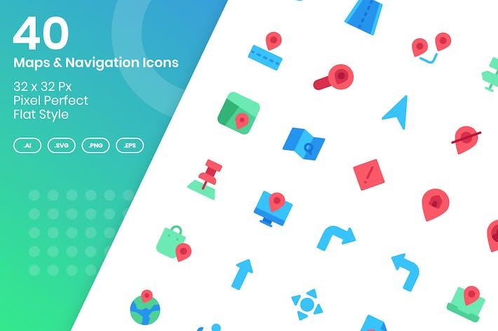 Thumbnail for 40 Карт и Навигация - Плоский