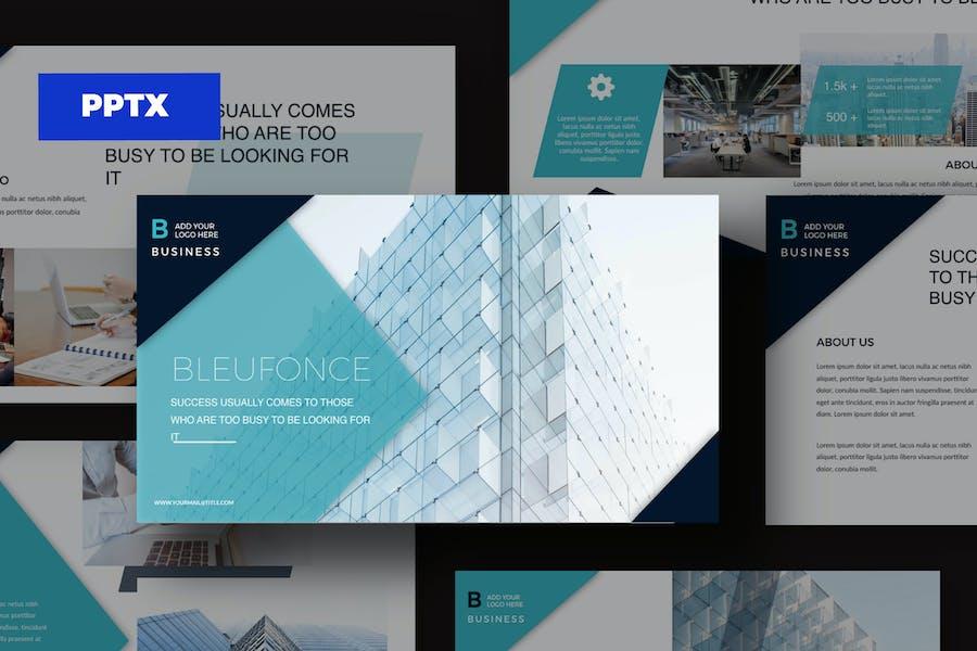 Bleufonce - Presentation Corporate PPT