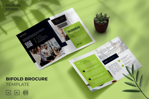 Business Great - Bifold Brochure Template
