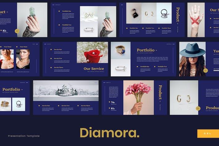 Thumbnail for Diamora - Jewelry Google Slides Template
