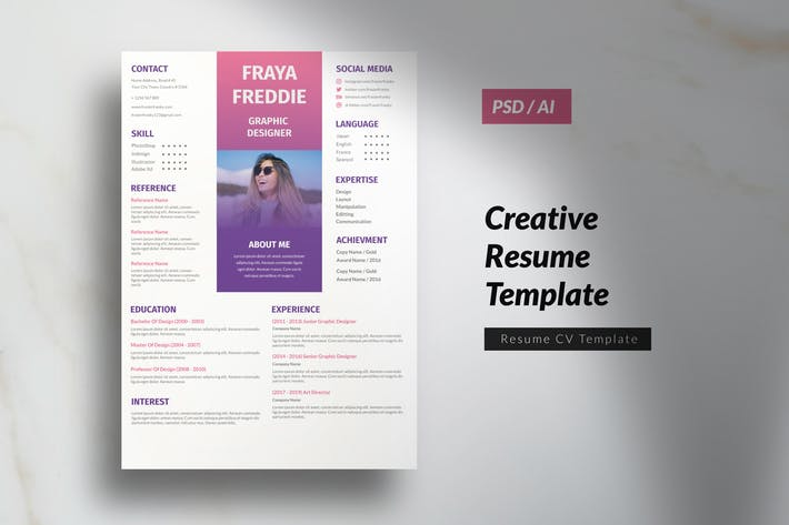 Thumbnail for Multipurpose Marketing Design CV Resume Vol. 8