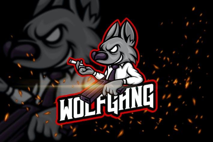 Thumbnail for Wolf Gang - Animal eSport Logo Template