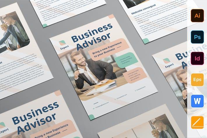 Cover Image For Business Advisor Flyer