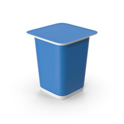 Taza de yogur Azul