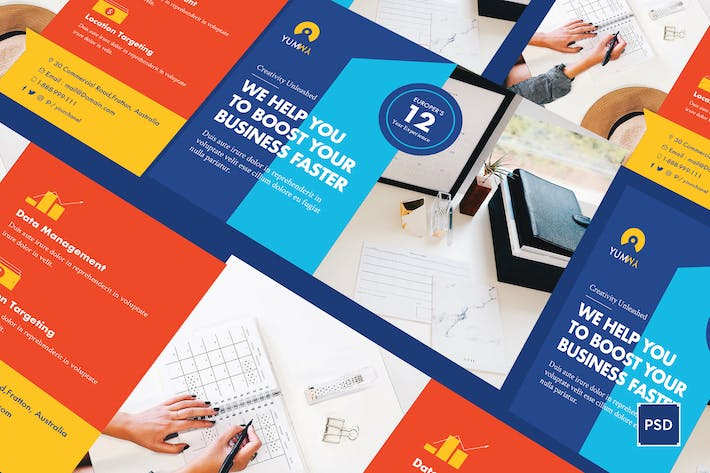 Thumbnail for Fresh Startup Business A5 Flyer PSD Template