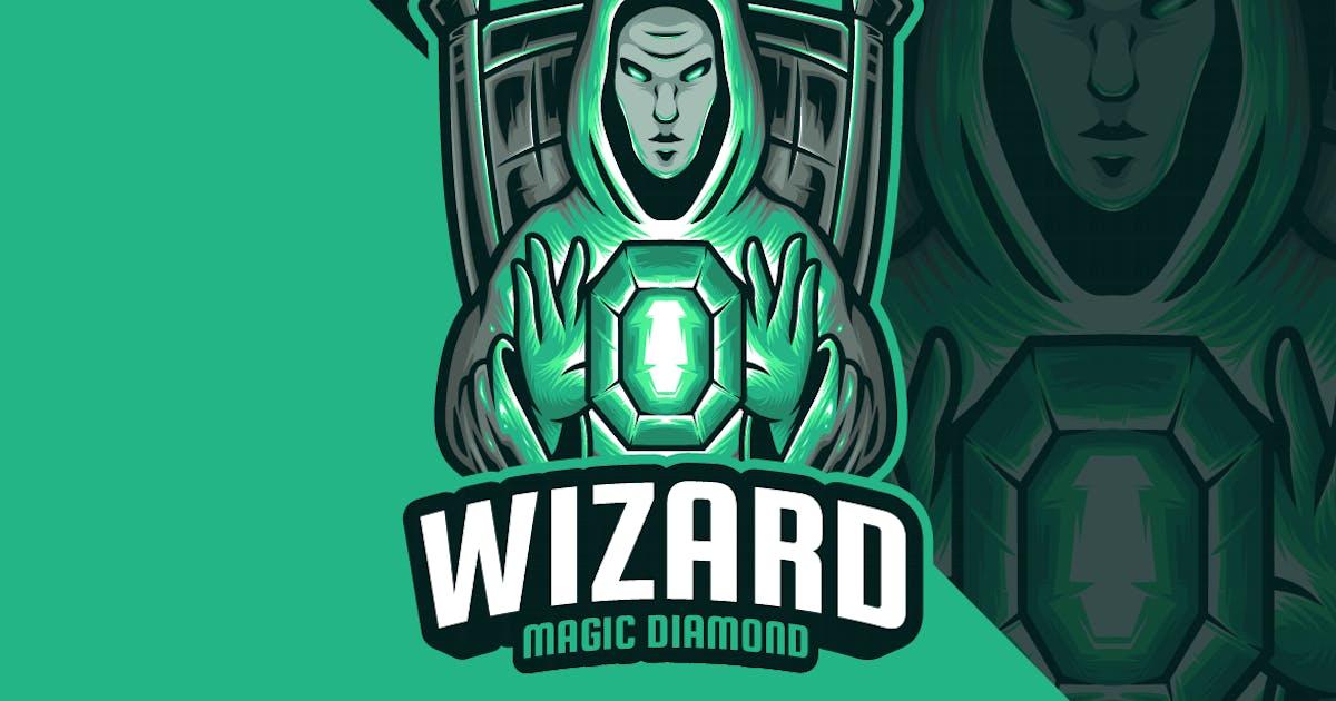Download Wizard Magic Diamond Mascot Logo by erix_ultrasonic