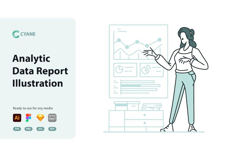 Cyane - Analytic Data Report Illustration
