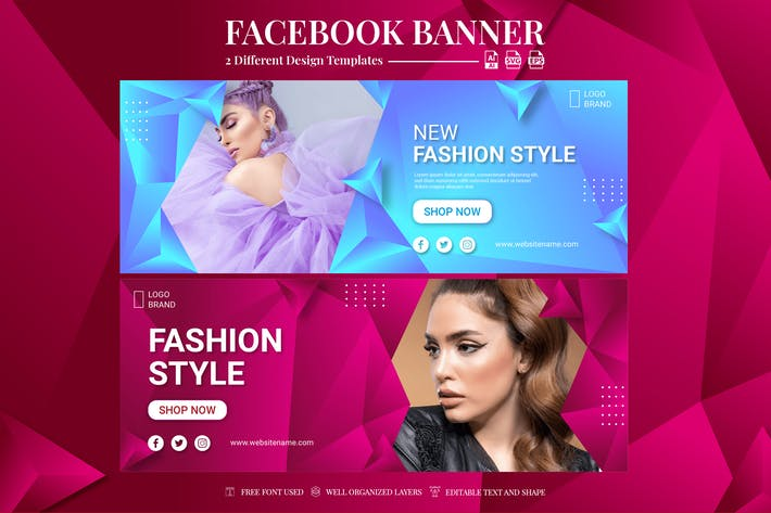 Facebook Banner - Fashion Style