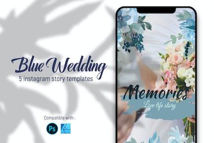 Blue wedding | Instagram story templates