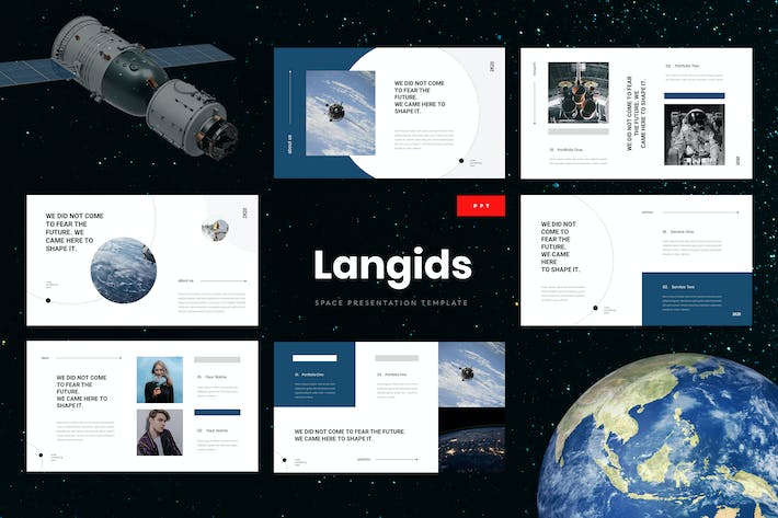 Thumbnail for Langids - Space Powerpoint Presentation Template
