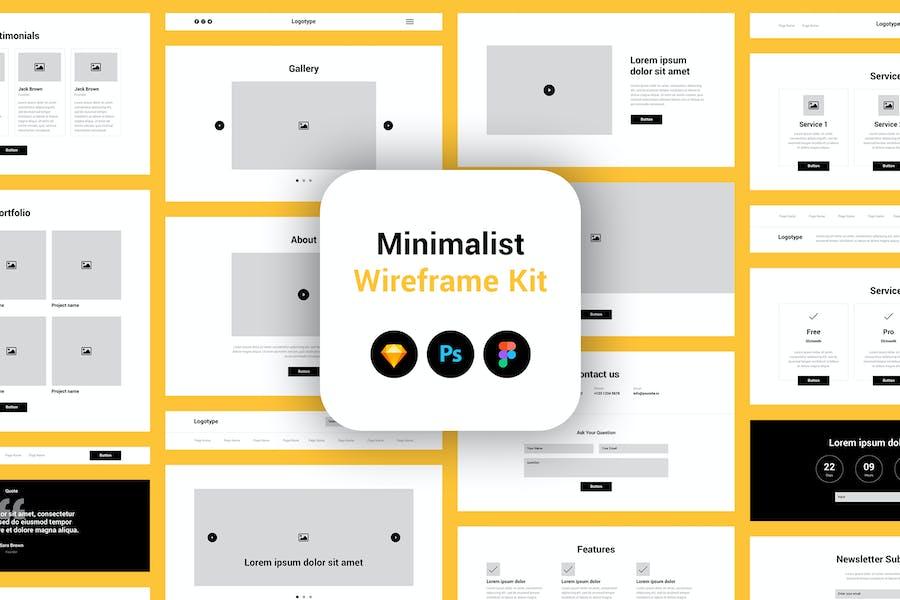 Minimalist Wireframe Kit