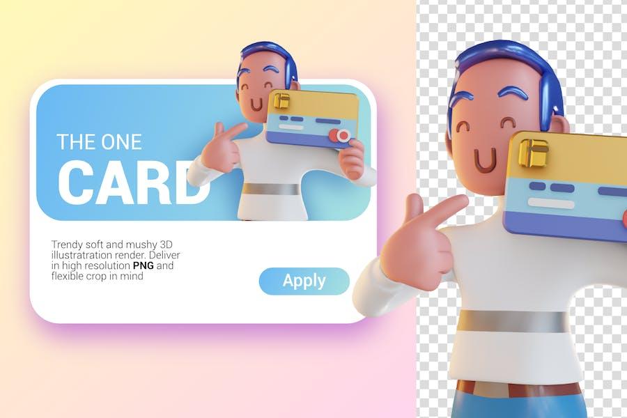 Member Card 3D Graphic