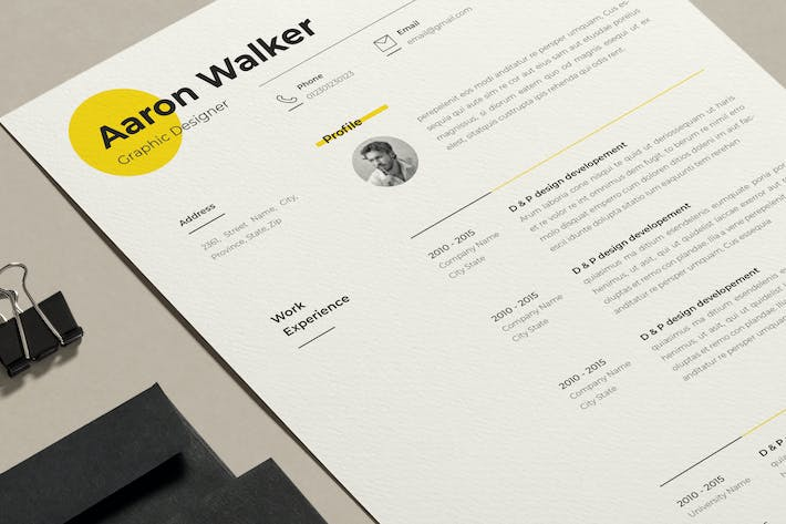 Cover Image For Minimalistic Resume