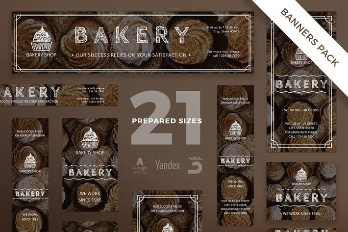 Thumbnail for Bakery Shop Banner Pack Template