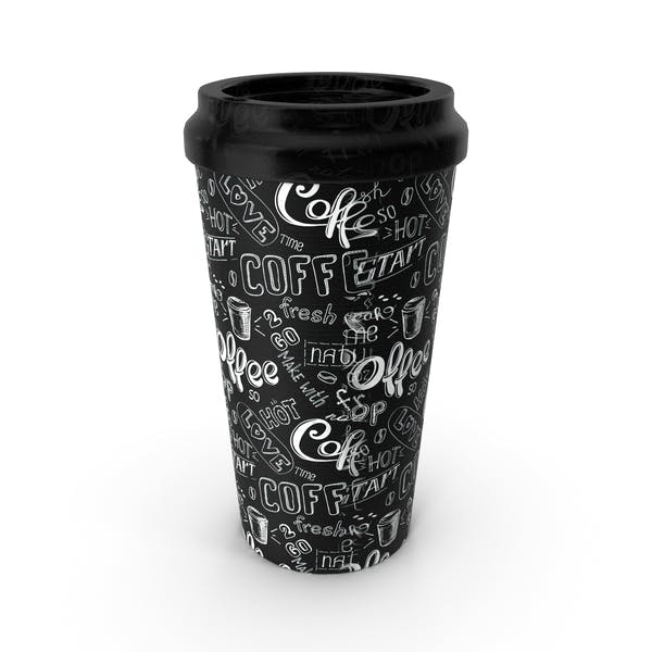 Paper Cup Black White Patterned