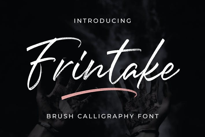 Thumbnail for Frintake - Brush Calligraphy Font