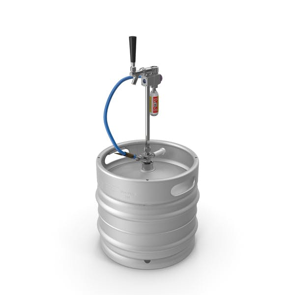Steel Beer Keg 30L with Leland CO2 Picnic Tap