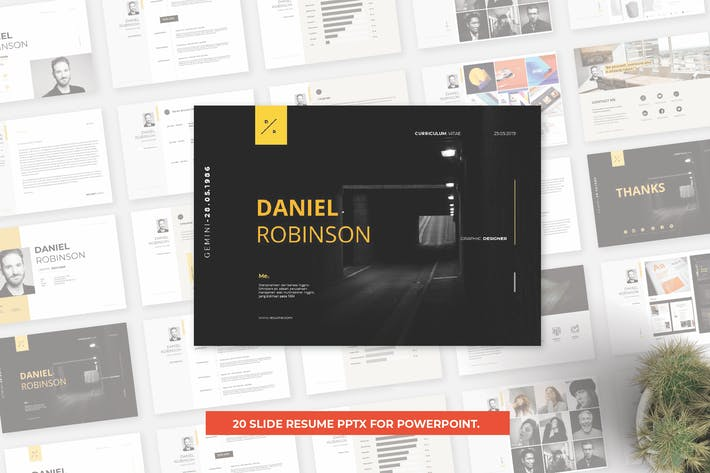 Thumbnail for Resume Presentation Powerpoint