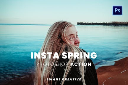 Insta Spring Photoshop Action