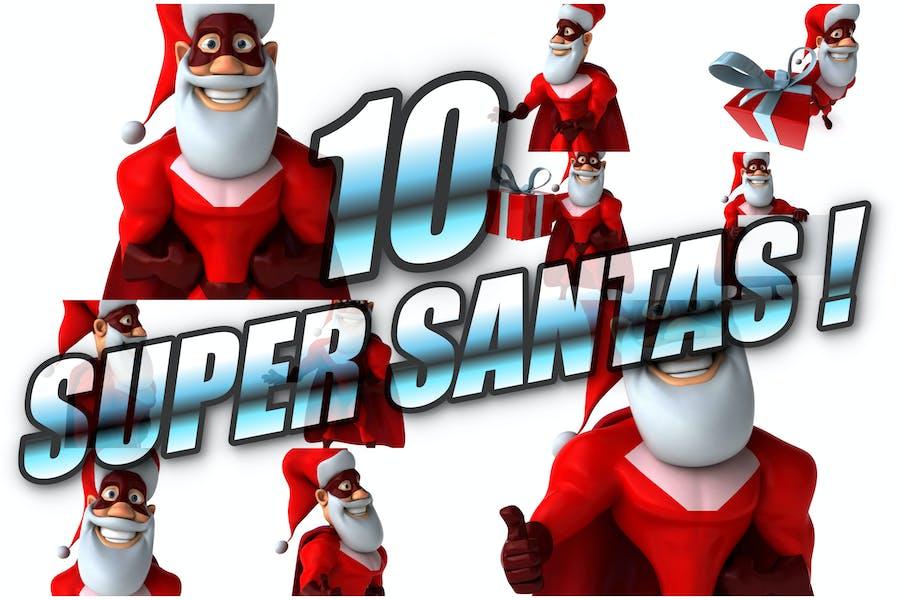 10 Super Santa Claus !