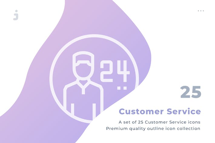 Thumbnail for 25 Customer Service icon set