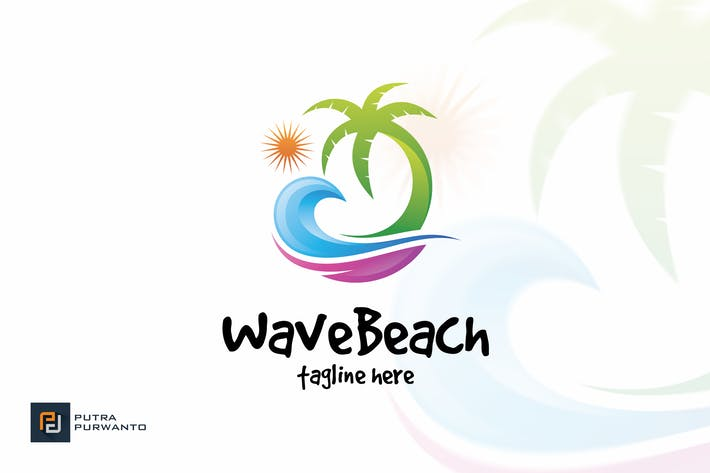 Thumbnail for Wave Beach - Logo Template