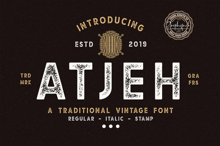 Thumbnail for Atjeh - A Traditional Vintage Font